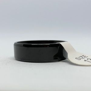Other - Black Stainless Steel Band Ring